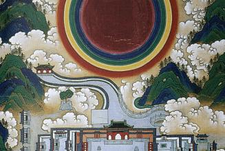 Manifestations miraculeuses de Zhenwu à Wudanii Shan, détail