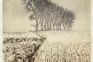 Crépuscule d'hiver, gravure de John Heywood