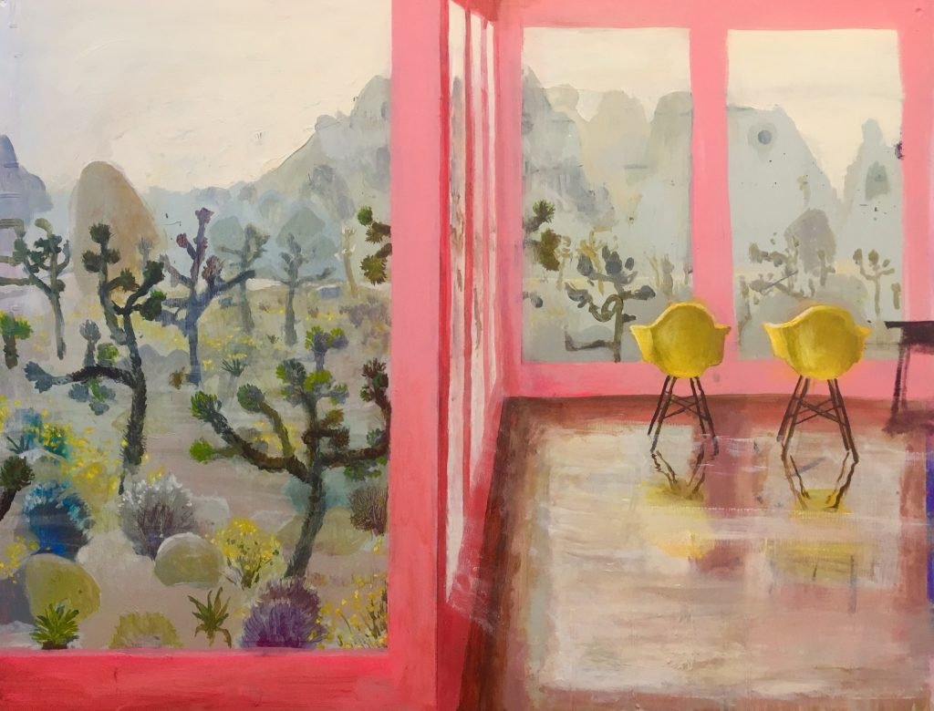 Joshua Tree, Mod rose, peinture de Johnny DeFeo
