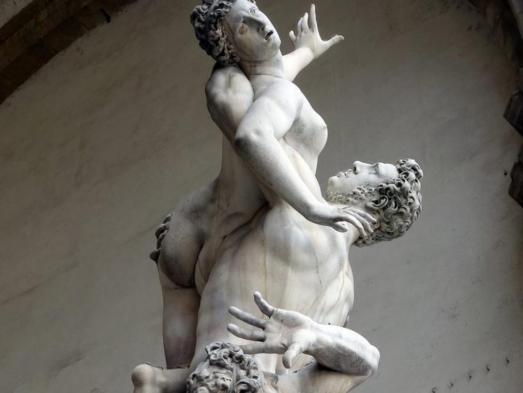Enlèvement d'une Sabine , marbre de Giambologna, 1581-83, Loggia dei Lanzi, Florence