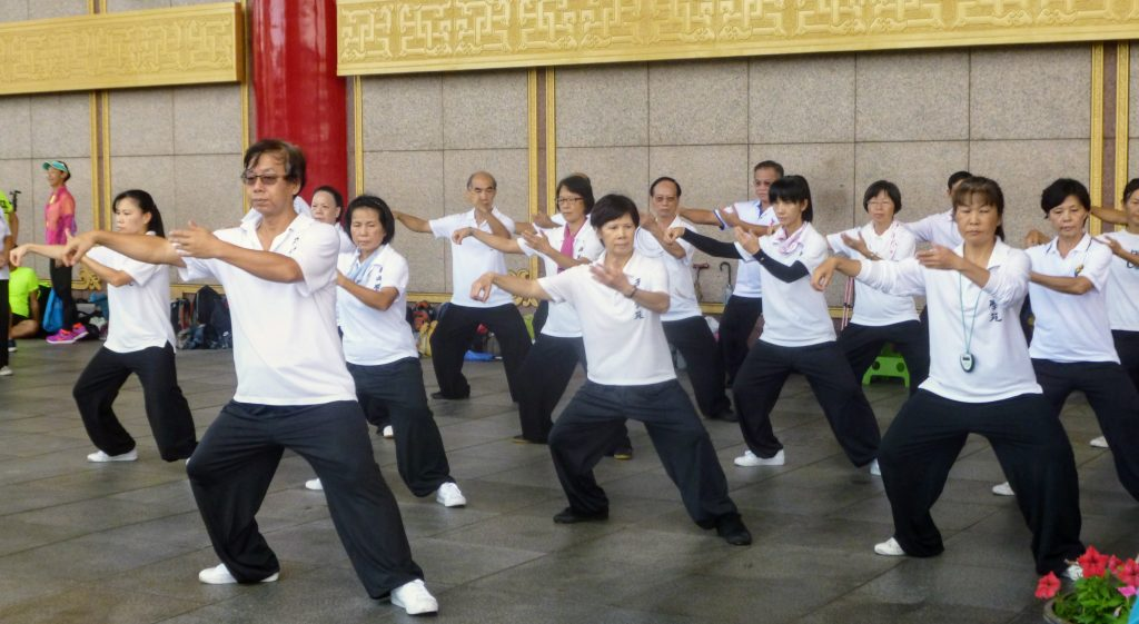 Entrainement au tai-chi-chuan à Taiwan