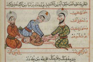Illustration traité de chirurgie persan, 1466, Sheref ed-Din ibn el-Hağğ Ilias