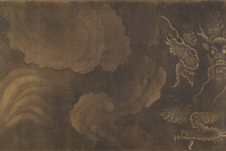 Pluie bienfaisante, encre sur soie de Zhang Yucai (- 1316)