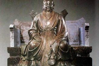 Zhang Sanfeng, statue en bronze, dynastie Ming