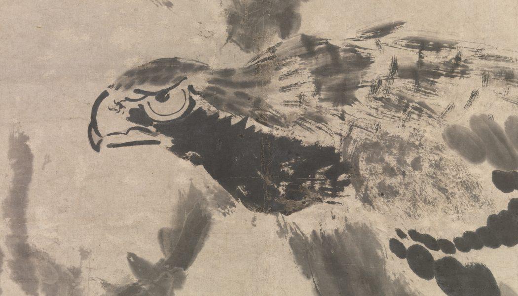Aigle, encre sur papier de Bada Shanren, , 1702