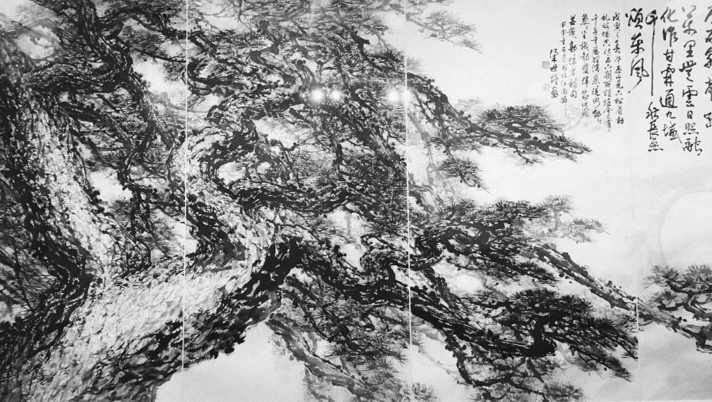 Wansong Wanchunchun, 2004, peinture chinoise, encre sur papier, Liang Shixiong