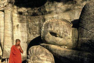 Bouddha couché, Temple de Gal Vihara, Sri Lanka