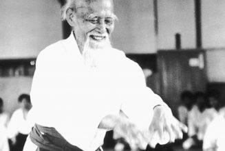 O Senseï Moriheï Ueshiba, le fondateur de l'aïkido.