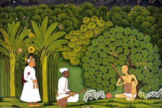 Swami Haridasa avec Tansen et Akbar à Vrindavana (1700 - 1760 )