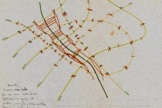 Dessin tiré des archives d'Alexandre Grothendieck