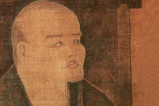 Dogen regardant la lune. détail, Monastère Hokyoji, préfecture de Fukui