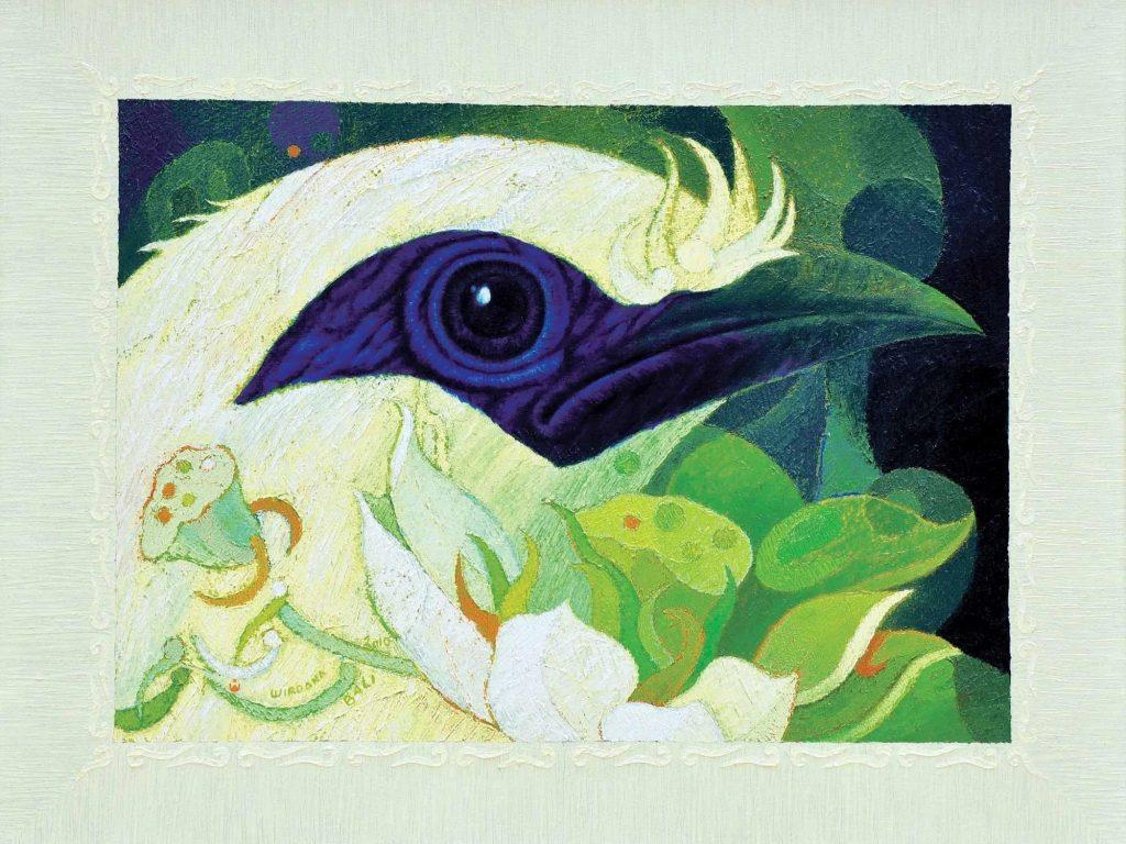 Flora Avis Bali, 2010, huile sur toile par I Nyoman Wirdana