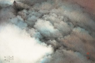 Encre et couleur sur papier, Wang Wuxie ou Wucius Wong, né en 1936
