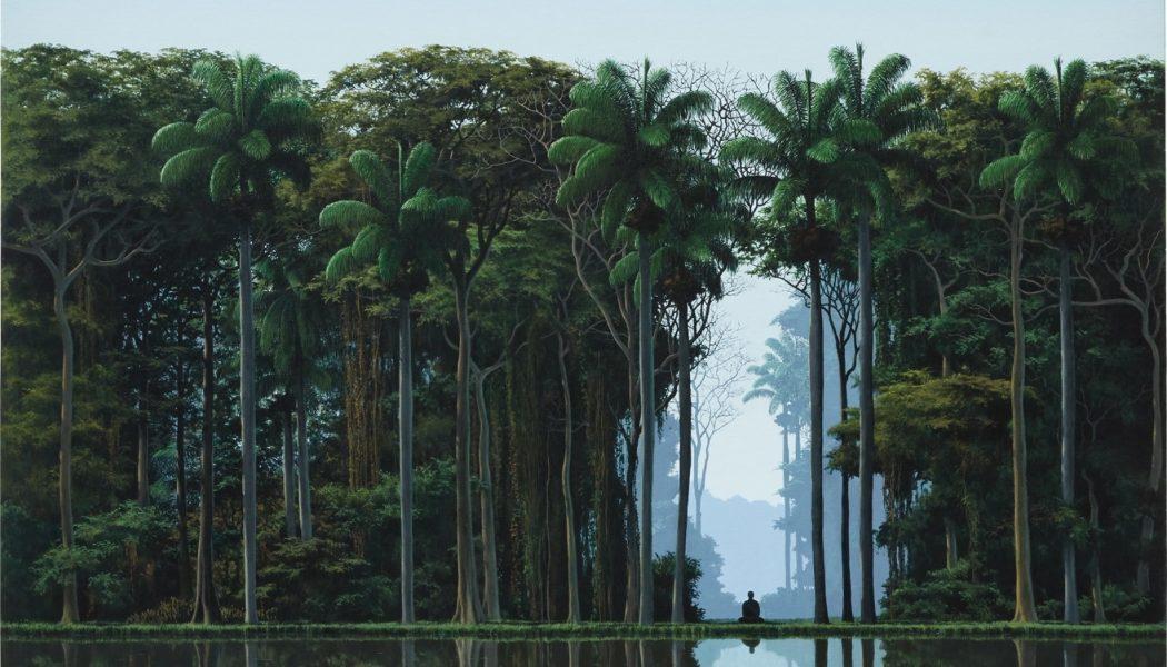 Meditador, 1995, acrylique sur toile, Tomás Sánchez