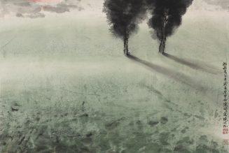 Point du jour, encre et couleur sur papier, He Huaishuo