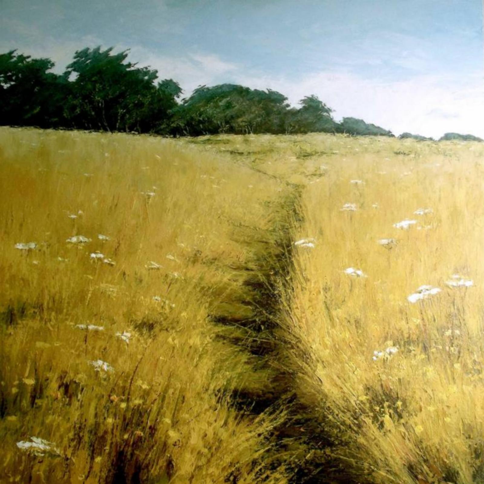 Prairie d'été, acrylique sur toile, Caroline Atkinson