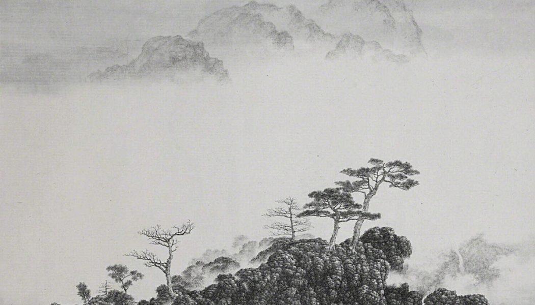 Arbres au sommet d'une montagne, encre sur papier Xuan, Hsia I-fu