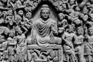 Illumination du Buddha, IIe-IIIe siècle EC, art du Gandhâra, Kushâna en Inde du Nord.