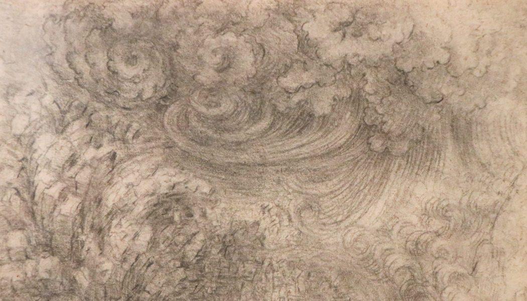 Le Déluge, dessiné à la pierre noire par Léonard de Vinci