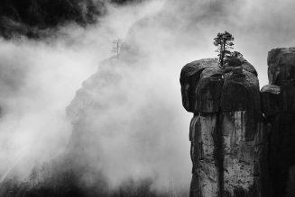The Rostrum in a Winter Storm, photographie de Brittany Colt