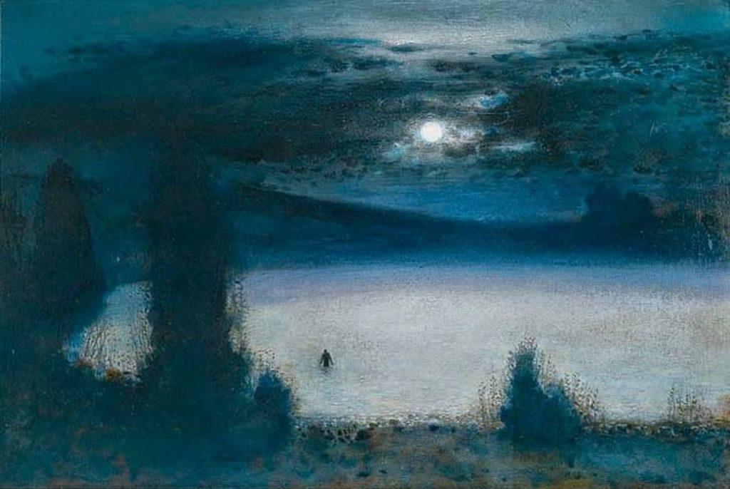 À flanc de colline dans le Radnorshire, huile sur panneau, Richard Cartwright