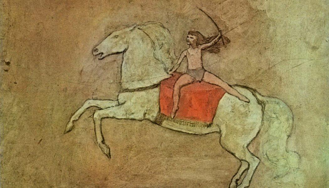 Equestrienne cheval, 1905, Pablo Picasso