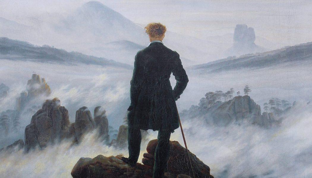 Le Voyageur contemplant une mer de nuages, 1818, huile sur toile, Caspar David Friedrich