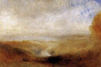 Paysage avec une rivière et une baie en arrière-plan, 1840-1850, Turner