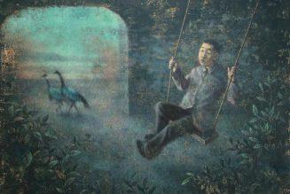 Balançoire, 2020, acrylique sur toile, Wang Gang