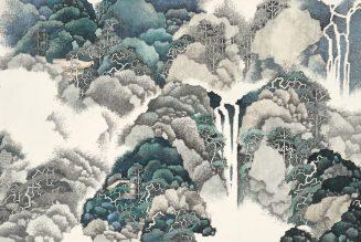 Écouter la pluie du printemps, encre et couleur sur papier, 2019, Li Xubai