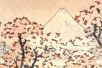 Le mont Fuji derrière des cerisiers en fleur, Katsushika Hokusai