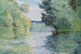 Le Petit bras de la Seine à Argenteuil, huile sur toile, vers 1890, Gustave Caillebotte (1848-1894)