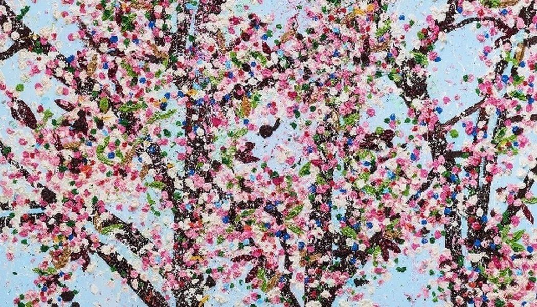 Les vertus, Contrôle, détail, giclée plastifiée sur panneau composite aluminium, Damien Hirst