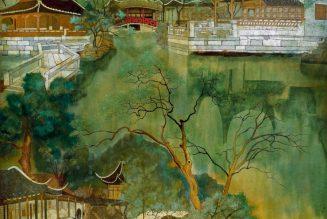 Jardin de l'humble administrateur de Suzhou, laque, 1990, Yuan-Yunfu