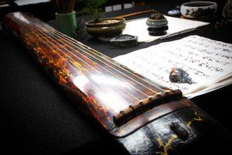 Leguqin, uninstrument de musiquetraditionnelchinoisàcordes pincées.