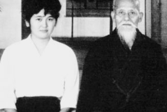 Mariye Takahashi avec Morihei Ueshiba
