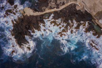 Paysage marin aérien de Terceira, Açores, photographie de Kah-Wai Lin