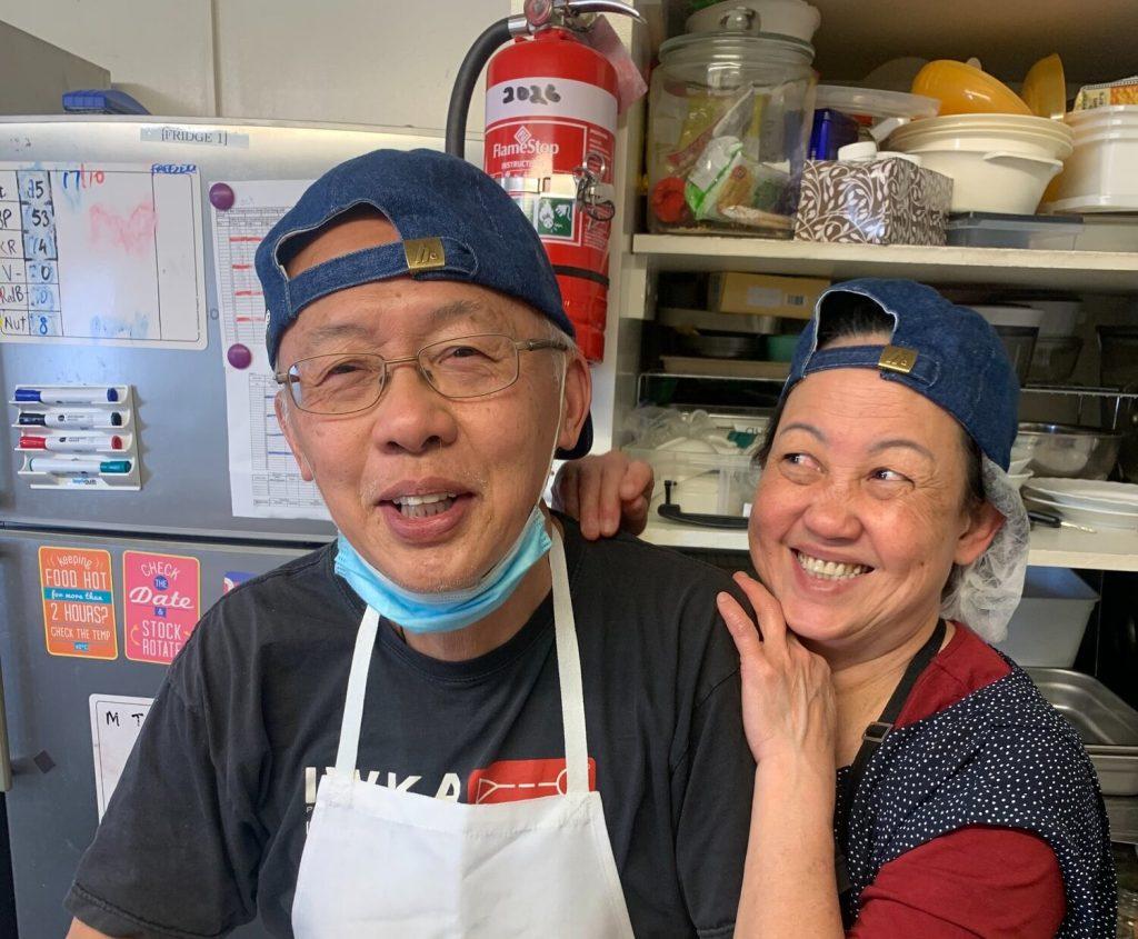 Wee Kee Jin et Janice au travail