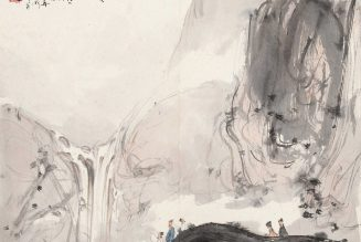 Vue sur la cascade, 1946, Fu Baoshi