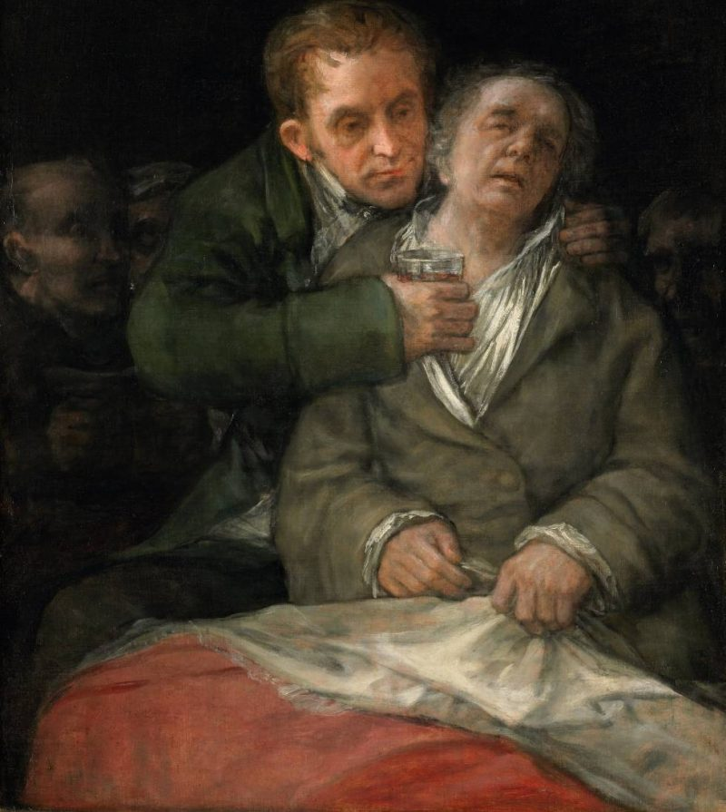 Autoportrait de Goya avec le docteur arrieta. Photo de l'Institut d'art de Minneapolis
