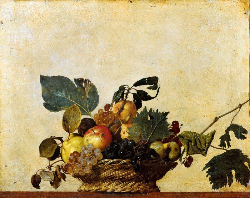 Corbeille de fruit, huile sur toile, Caravage